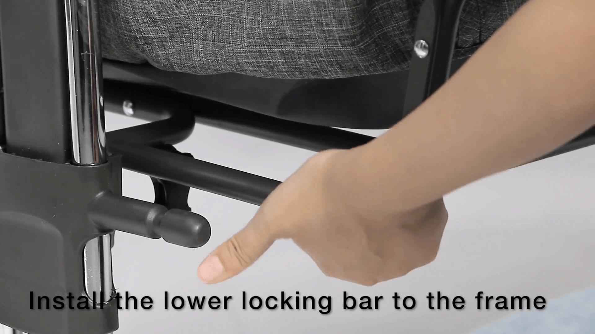 Mika Micky - install lower locking bar 2