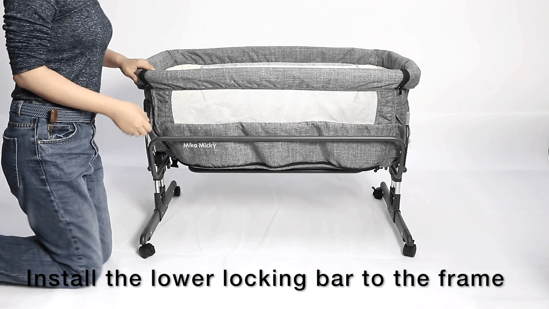 Mika Micky - install lower locking bar 3
