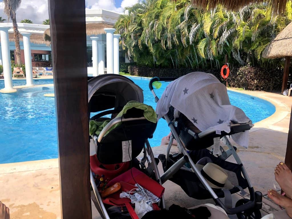Strollers by the pool
