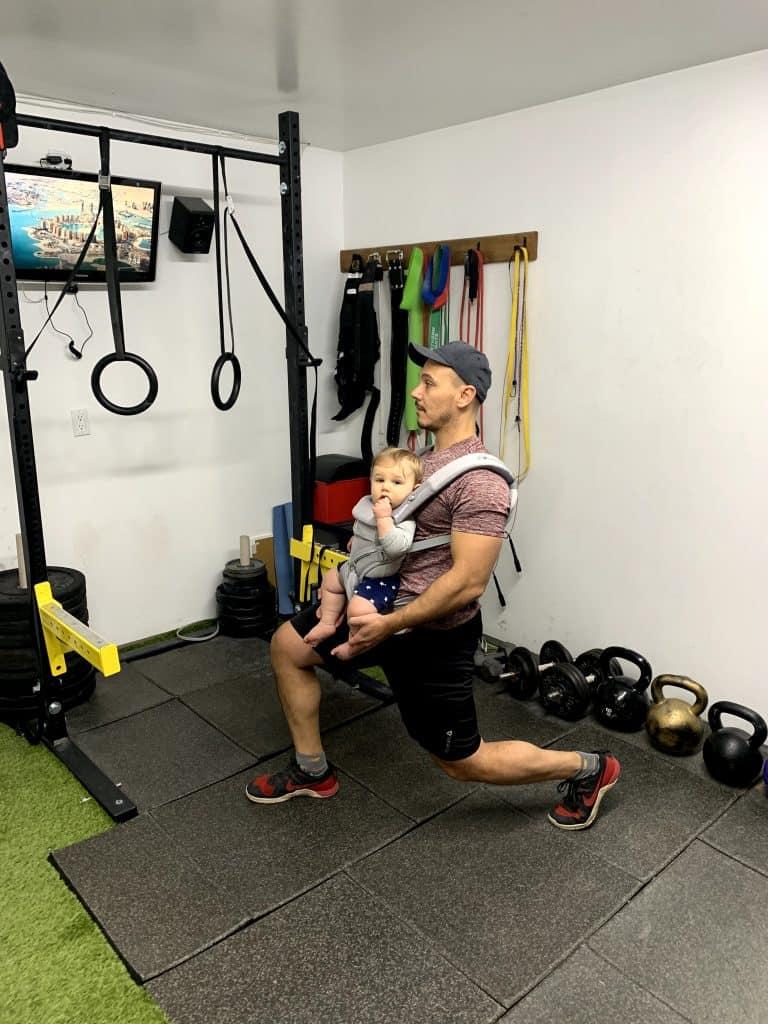 babywearing lunge