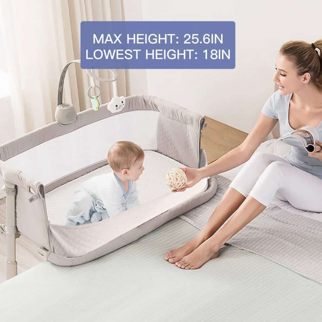 Ronbei bedside sleeper bassinet 3