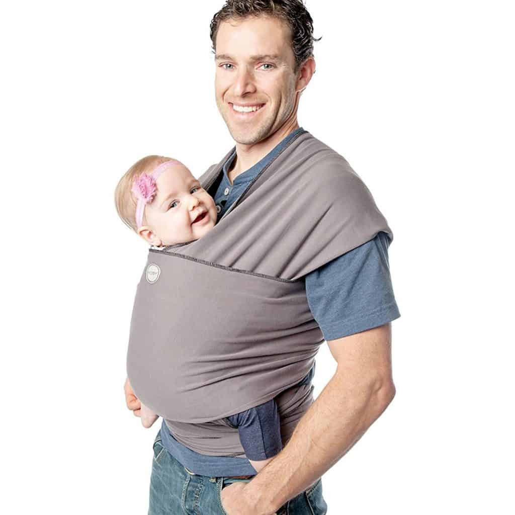 wrap baby carrier dad