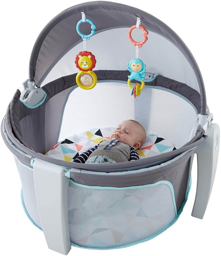 fisher price baby dome sleeping baby inside