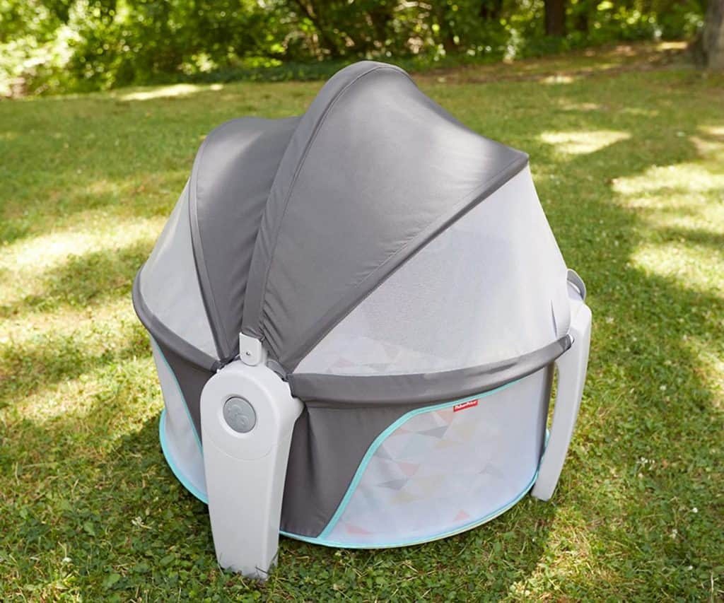 fisher price baby dome outside covered