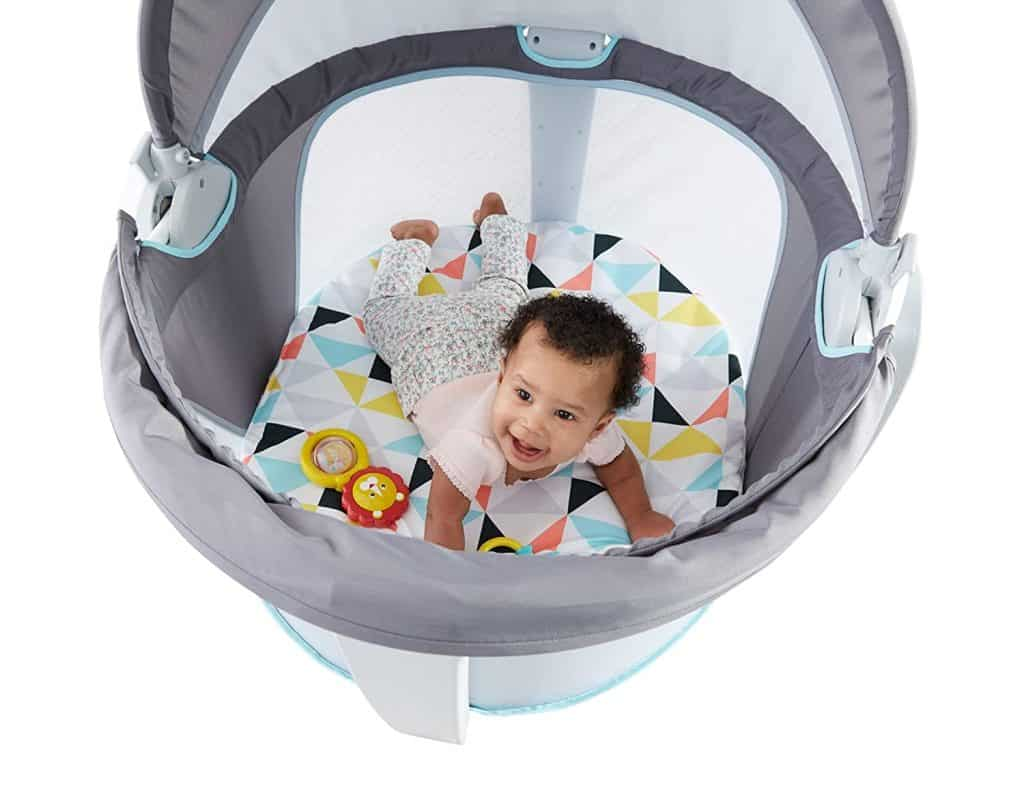 fisher price baby dome playing baby inside
