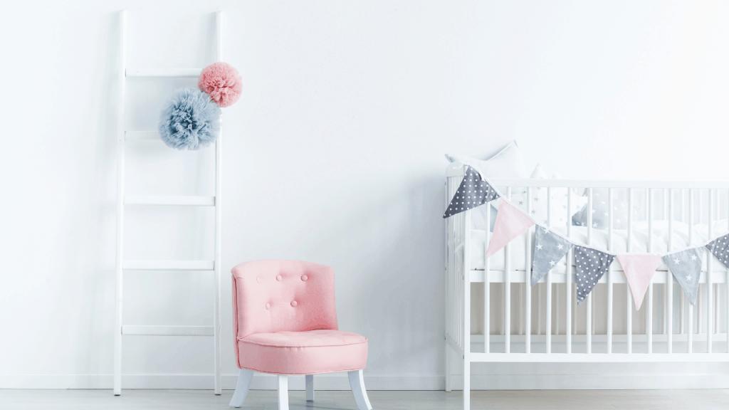 white crib in room