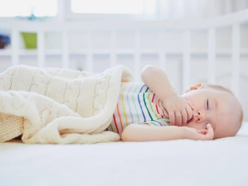 Baby asleep in a co sleeper