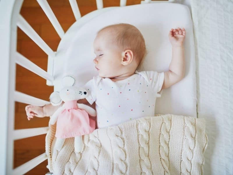 Baby sleeping in a co sleeper