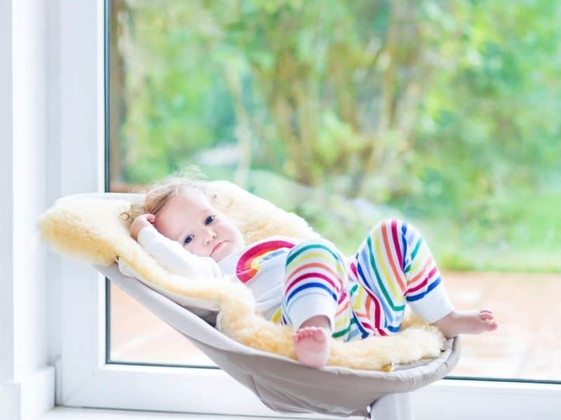 baby swing with baby